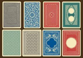 Vetores traseiros de cartão antigo