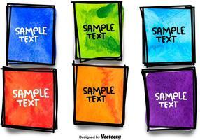 Caixilhos coloridos desenhados à mão vetor