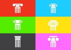 Conjunto de vetores de pilares romanos