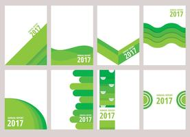 Projeto de relatório anual verde vetor