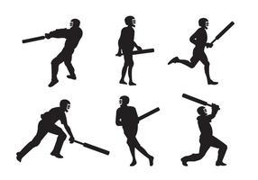 Jogadores de Cricket vetor