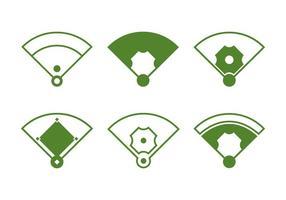 Diamante do baseball vetor