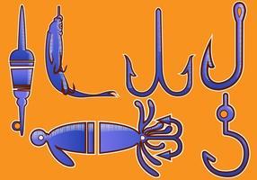 Ilustração vetorial gancho de peixe vetor