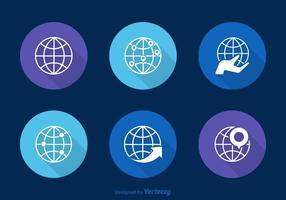 Ícones de vetor globos livres