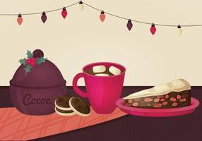 Ilustração do vetor do alimento do Natal