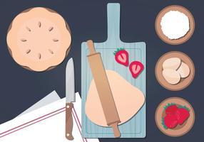 Ilustração da ilustração da receita da torta vetor