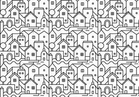 Resumo do padrão da cidade vetor