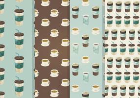 Padrão de vetor sem costura de café