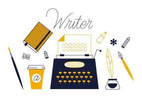 Vetor de escritor livre