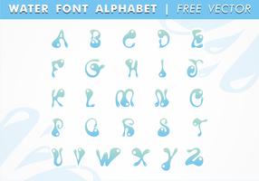 Alfabeto de fontes de água vetor livre
