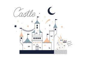 Vetor livre do castelo