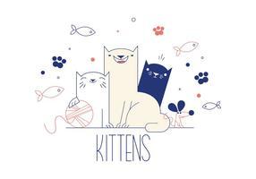 Vetor de gatinhos grátis