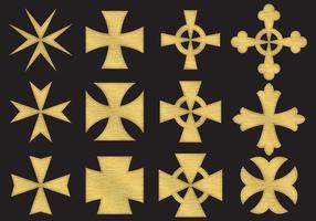 Gold Malta Cross vetor