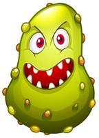 bactérias com cara de monstro vetor