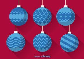 Bolas de Natal planas vetor