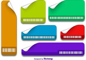 Etiquetas com código de barras vetor