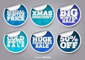 Adesivos de venda de inverno vetor
