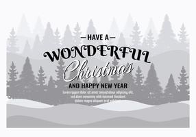 Ilustração de fundo de Natal grátis com tipografia