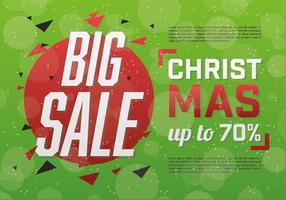 Fundo de vetor de venda de Natal gratuito