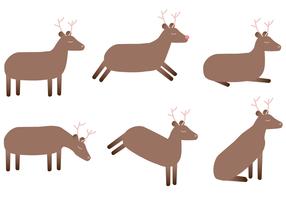 Vector de cervos grátis