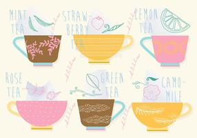 Jogo grátis de ícones de vetores de chá
