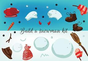 Livre construir um vetor de kit de boneco de neve