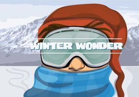 Vector grátis de ilustração de aventura de inverno