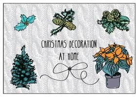 Vector de Decorações de Natal Grátis