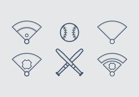 Ilustrações de ícone de vetor de beisebol grátis # 4