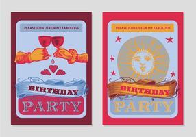 Fundo gratuito do poster da festa de aniversário vetor