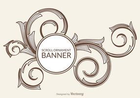 Bandeira livre do vetor do ornamento do rolo