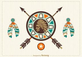 Design de vetores nativos americanos gratuitos
