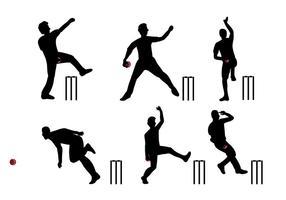 Vetor de jogador de cricket