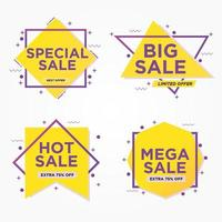 conjunto de banners de venda geométrica vetor