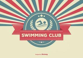 Ilustração retro do clube de natação vetor