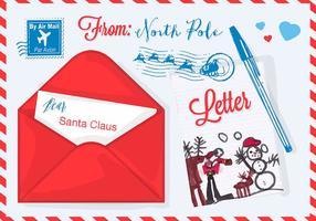 Ilustração vetorial grátis para o Natal Carta ao Papai Noel vetor