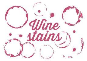 Conjunto vetorial de manchas de vinho vetor
