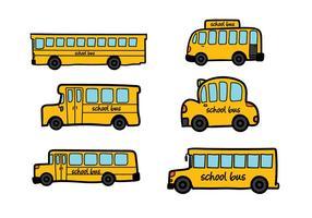 Vector do ônibus escolar