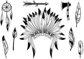 Vetores livres nativos americanos