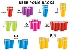 Racks de cerveja Pong vetor