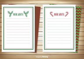 Caro Conjunto de cartões de nota de Santa vetor