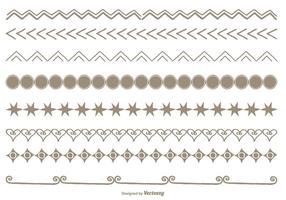 Conjunto de bordas de estilo desenhado à mão vetor