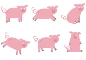 Vetor de porco grátis