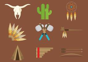 Ícones Indianos da América do Norte vetor