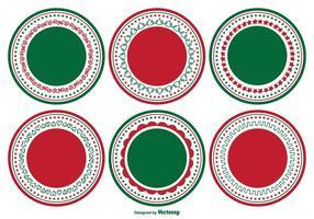 Conjunto decorativo de etiquetas de Natal em branco vetor