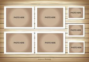 Modelo de colagem de fotos vetor