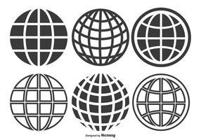 Globo Grid Set vetor