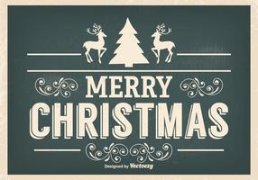 Ilustração vintage de Natal