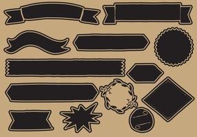 Elementos de enfeite preto vetor
