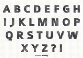 Conjunto retro de alfabetes